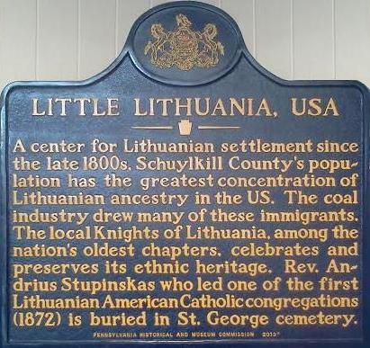 The Little Lithuania Historical Marker