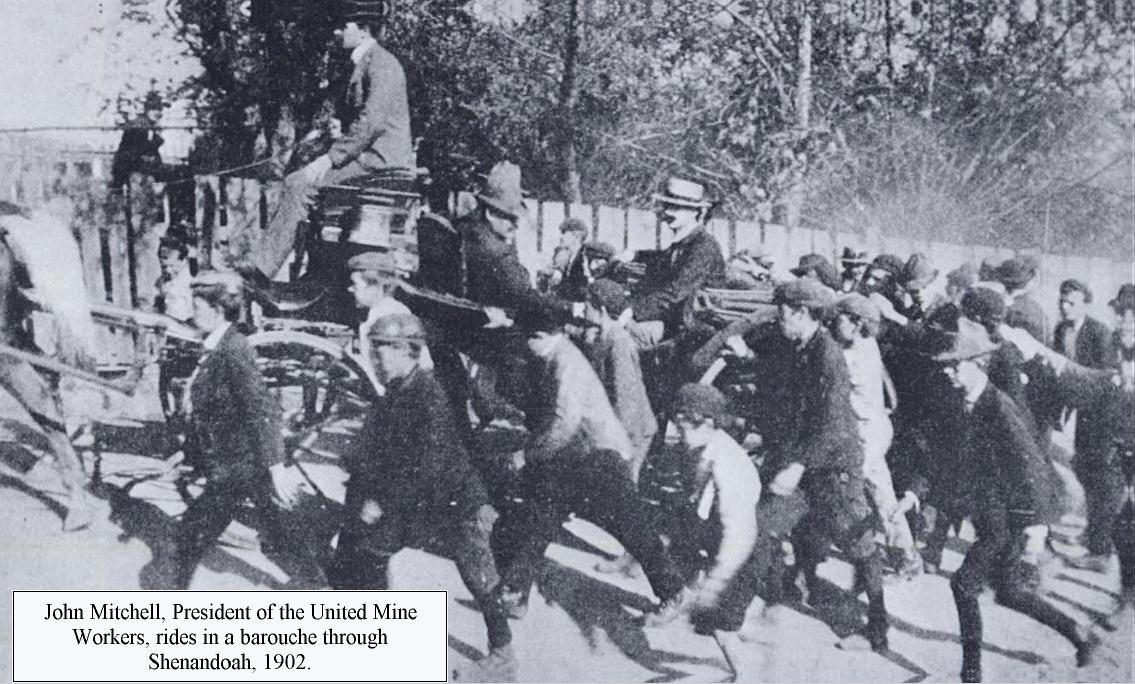 POLICE MINERS RIOT AT SHENANDOAH PENNSYLVANIA HISTORY COAL AND IRON POLICE